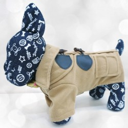 Elegantiškas paltukas šuniukui (rusvos spalvos)