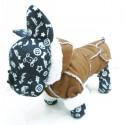 Elegantiškas paltukas - kailinukai šuniukui ( rudos spalvos)