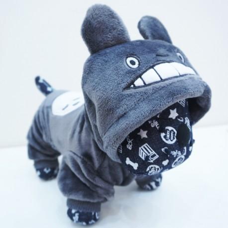Minkštas, šiltas (pilkos spalvos) kombinezonas šuniukams